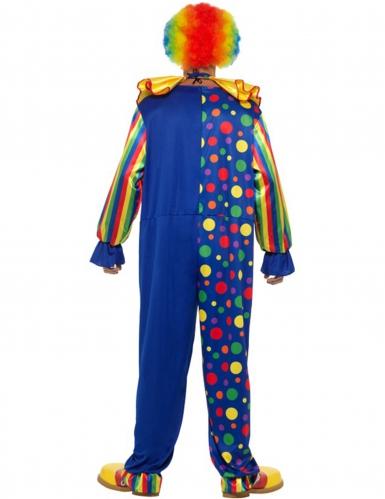 Donkerblauw clown kostuum voor mannen-1