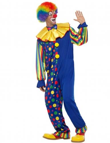 Donkerblauw clown kostuum voor mannen-2