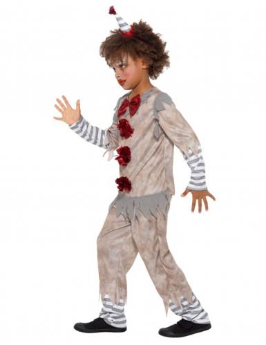 Rood en grijs vintage clown kostuum voor jongens-2