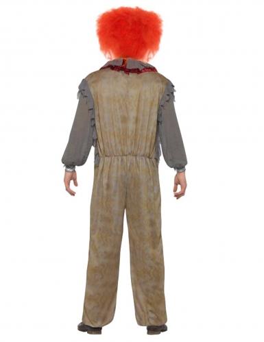 Vintage grijs horror clown kostuum voor mannen-1