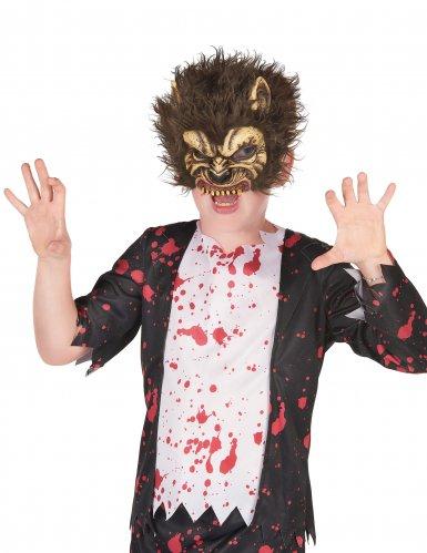 Latex weerwolf masker voor kinderen
