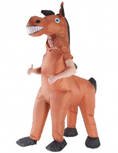 Enorm opblaasbaar Morphsuits™ paard kostuum voor volwassenen