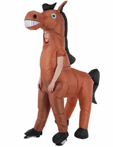 Enorm opblaasbaar Morphsuits™ paard kostuum voor kinderen