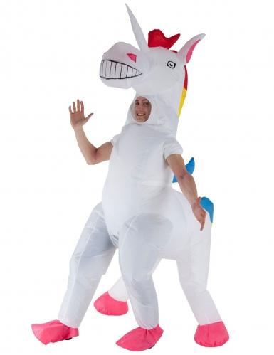Enorm opblaasbaar Morphsuits™ eenhoorn kostuum voor volwassenen