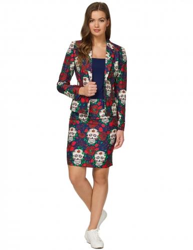 Mrs. Skull Day of the Dead Suitmeister™ kostuum voor vrouwen