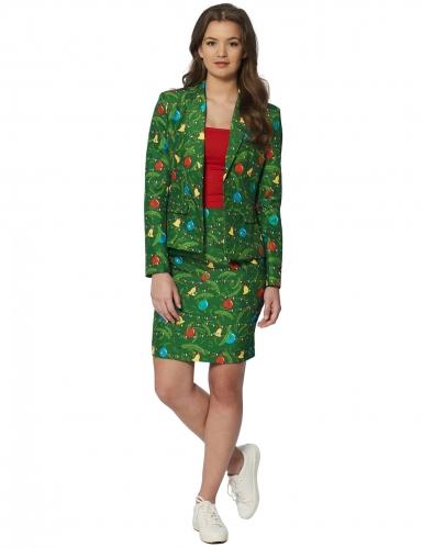 Groen Mrs. Kerstboom Suitmeister™ kostuum voor vrouwen