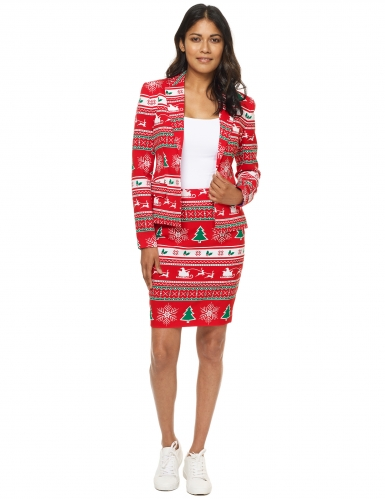 Rood Mrs. Kerstboom Suitmeister™ kostuum voor vrouwen