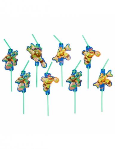 8 Ninja Turtles™ rietjes