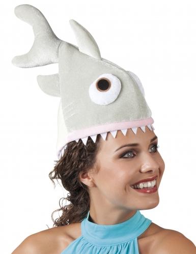 Kleine pluche haai hoed voor volwassenen