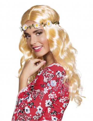Lange blonde pruik met hoofdband voor vrouwen