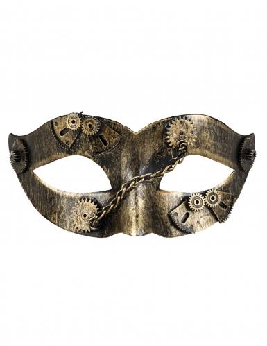 Steampunk masker met goudkleurige tandwielen voor vrouwen-1