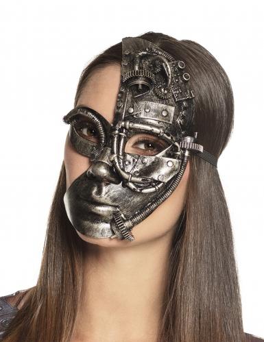 Steampunk robot half masker voor vrouwen
