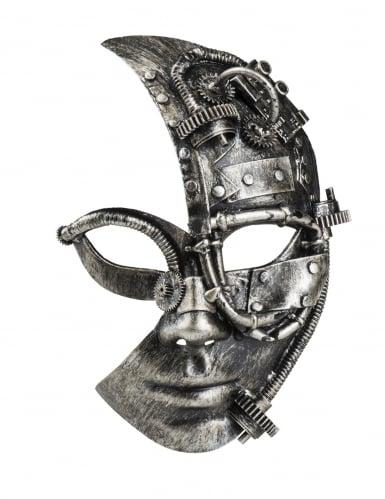 Steampunk robot half masker voor vrouwen-1