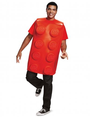 Rood Lego® blokje kostuum voor volwassenen