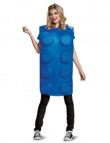 Blauw Lego® blokje kostuum voor volwassenen