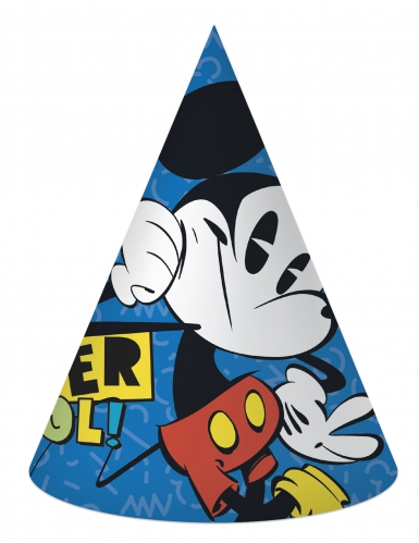 6 retro Mickey™ feesthoeden