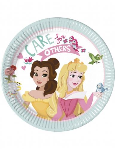 8 kleine kartonnen Disney Princesses™ borden