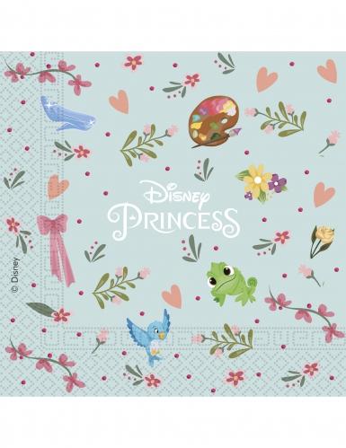 20 retro papieren Disney Princesses™ servetten