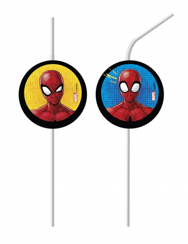 6 Spiderman™ rietjes