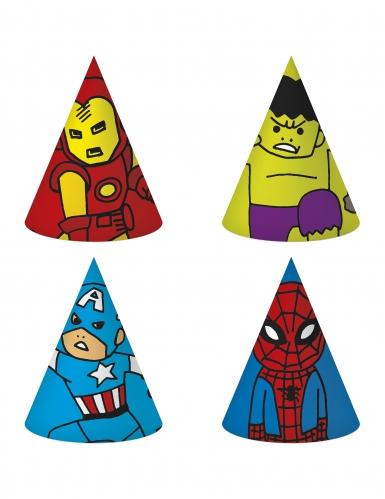 6 kartonnen Avengers™ feesthoeden