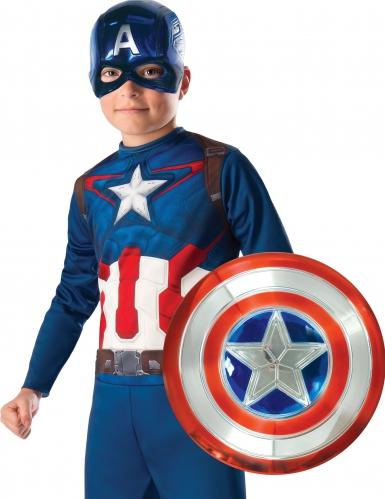 Plastic metallic Captain America schild voor kinderen