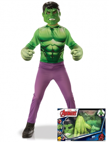 Klassiek Hulk™ kostuum met grote handen voor jongens