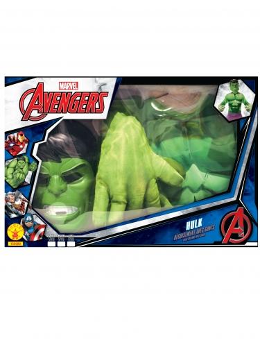 Klassiek Hulk™ kostuum met grote handen voor jongens-1