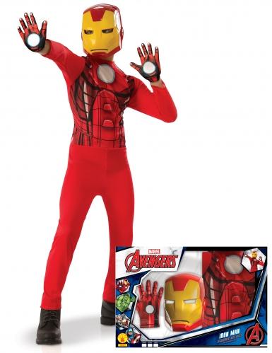 Klassiek Iron Man™ jongenskostuum in cadeauverpakking