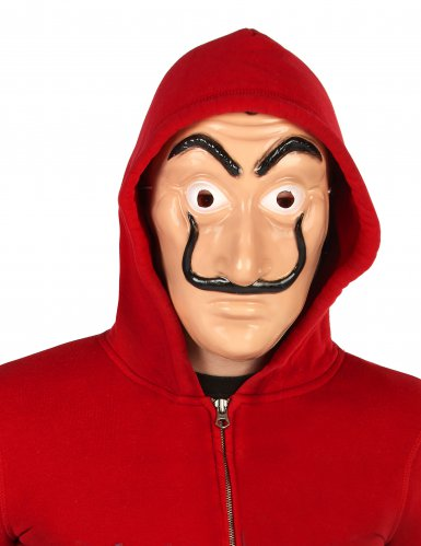 Rood overvaller pak en masker voor volwassenen-2