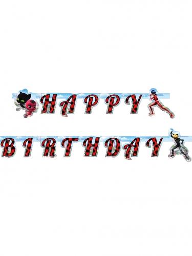 Kartonnen Ladybug™ happy birthday slinger