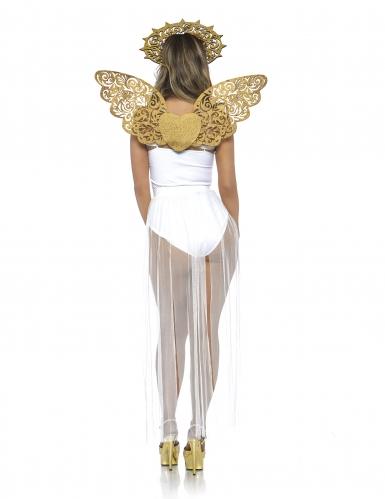 Goudkleurige engel vleugels en halo voor volwassenen-1