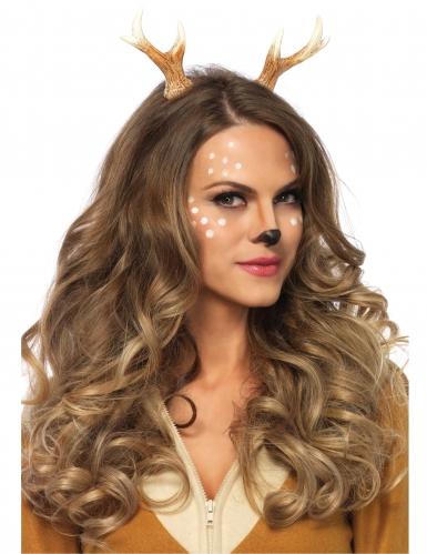 Beige en bruine hert haarband voor vrouwen