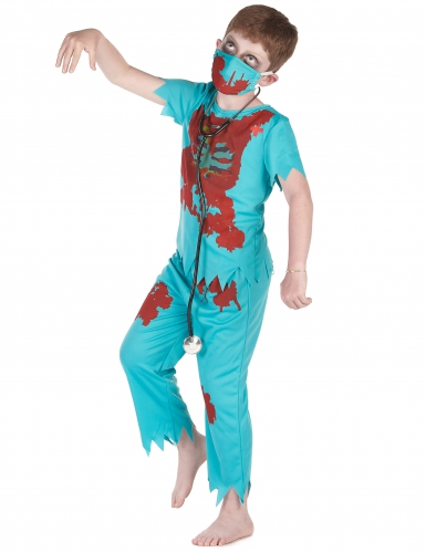 Zombie dokter outfit voor jongens-1