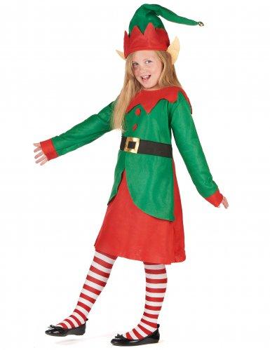 Kerstelf kostuum voor meisjes-1