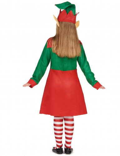 Kerstelf kostuum voor meisjes-2