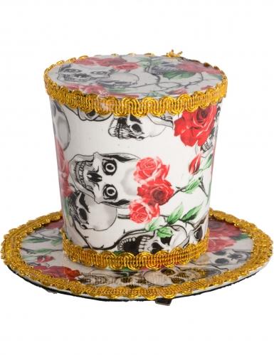 Dia de los Muertos mini hoge hoed voor vrouwen-1