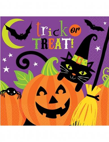 16 papieren happy Halloween servetten