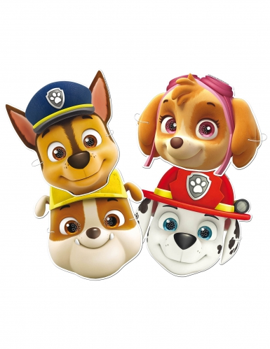 6 kartonnen Paw Patrol™ maskers
