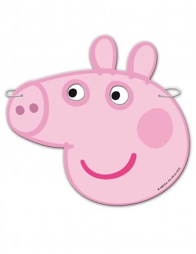6 kartonnen maskers Peppa Pig™-1