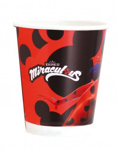 8 Miraculous Ladybug™ bekers van karton-1