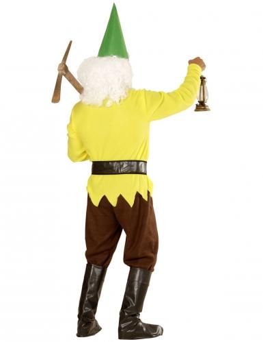Geel tuinkabouter kostuum voor volwassenen-1