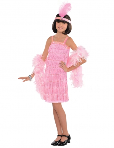 Roze charleston kostuum voor meisjes