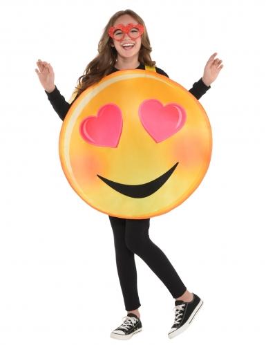 Verliefde emoticon kostuum voor kinderen