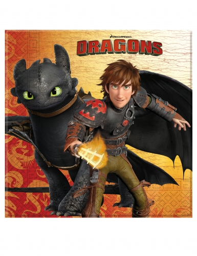 20 papieren How to Train Your Dragon™ servetten