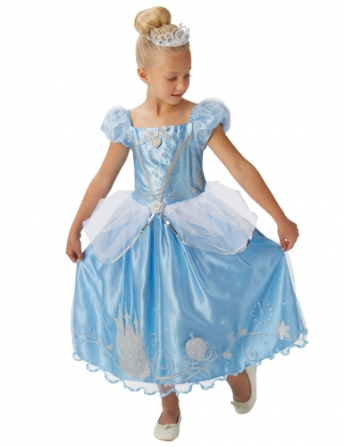 Prinses Assepoester™ kostuum met kroon voor meisjes-1