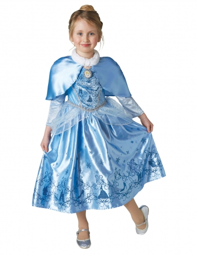 Assepoester™ winterprinses kostuum met cape voor meisjes