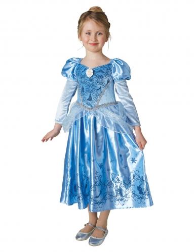 Assepoester™ winterprinses kostuum met cape voor meisjes-1