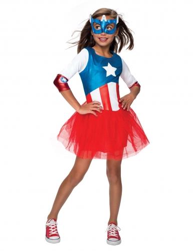 Captain America™ kostuum met tutu voor meisjes