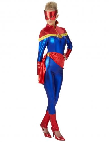 Blauw en rood Captain Marvel™ kostuum voor vrouwen