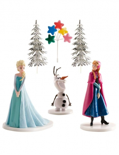 Frozen™ figuurtjes taart decoratie set